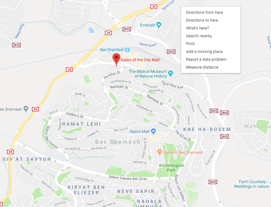 Official Beit Shemesh Map: RBS Luxury Suites